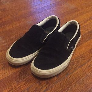 Black Slip on Vans - 6.5W 5M
